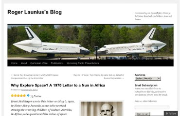 http://launiusr.wordpress.com/2012/02/08/why-explore-space-a-1970-letter-to-a-nun-in-africa/
