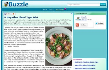 http://www.buzzle.com/articles/o-negative-blood-type-diet.html