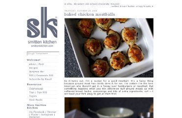 http://smittenkitchen.com/blog/2009/10/baked-chicken-meatballs/