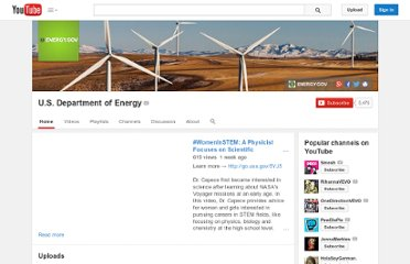http://www.youtube.com/user/USdepartmentofenergy