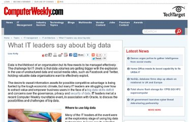 http://www.computerweekly.com/feature/What-IT-leaders-say-about-big-data