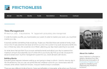 http://getfrictionless.com/time-management/