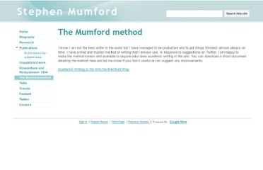https://sites.google.com/site/stephendmumford/the-mumford-method