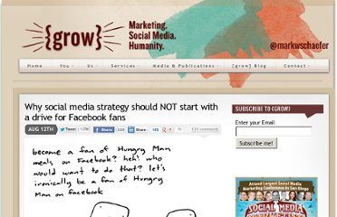 http://www.businessesgrow.com/2012/08/12/why-social-media-strategy-should-not-start-with-a-drive-for-facebook-fans/
