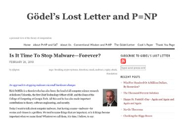 http://rjlipton.wordpress.com/2010/02/26/is-it-time-to-stop-malware-forever/#more-4466