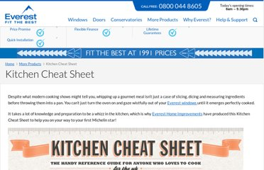 http://www.everest.co.uk/products/kitchens/kitchen-cheat-sheet/
