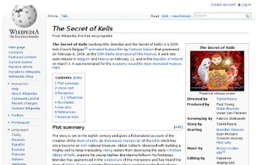 http://en.wikipedia.org/wiki/The_Secret_of_Kells