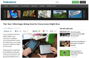 http://edudemic.com/2012/08/the-top-5-ipad-apps-being-used-in-classrooms-right-now/