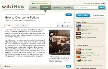 http://www.wikihow.com/Overcome-Failure