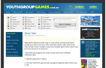 http://youthgroupgames.com.au/games/383/shoe-talk/