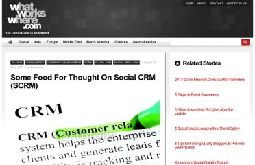 http://whatworkswhere.com/index.php/2012/global/some-food-for-thought-on-social-crm-scrm/
