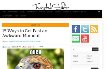 http://twistedsifter.com/2012/08/15-ways-to-get-past-an-awkward-moment/