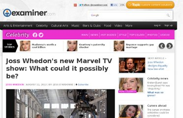 http://www.examiner.com/article/joss-whedon-s-new-marvel-tv-show-what-could-it-possibly-be