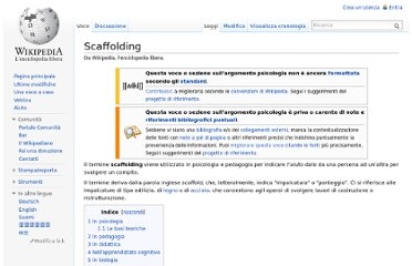 http://it.wikipedia.org/wiki/Scaffolding