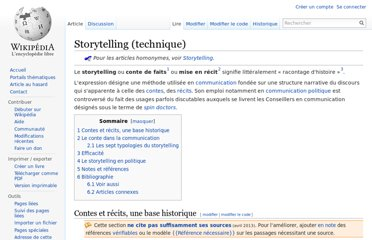 http://fr.wikipedia.org/wiki/Storytelling_(technique)