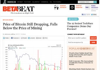 http://betabeat.com/2011/10/price-of-bitcoin-still-dropping-falls-below-the-price-of-mining/