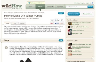 http://www.wikihow.com/Make-DIY-Glitter-Pumps