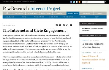 http://www.pewinternet.org/Press-Releases/2009/The-Internet-and-Civic-Engagement.aspx