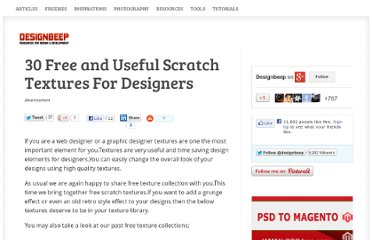 http://designbeep.com/2012/08/13/30-free-and-useful-scratch-textures-for-designers/