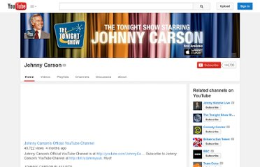 http://www.youtube.com/user/johnnycarson