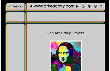 http://www.artyfactory.com/pop_art_portraits/pop_art_lessons/pop_art_group_project.htm