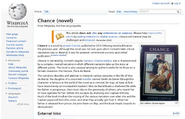 http://en.wikipedia.org/wiki/Chance_(novel)