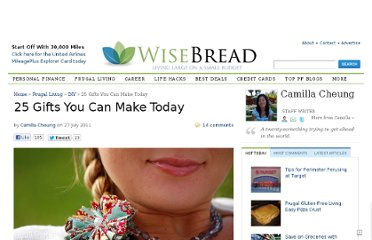 http://www.wisebread.com/25-gifts-you-can-make-today