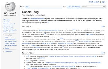 http://en.wikipedia.org/wiki/Donnie_(dog)