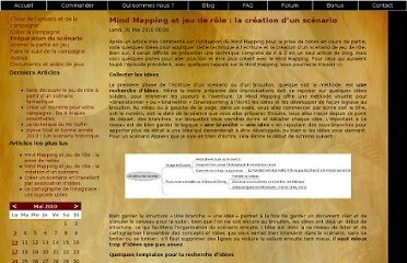 http://www.labibledumeneurdejeu.com/index.php?option=com_content&view=article&id=47:mind-mapping-et-jeu-de-role-la-creation-dun-scenario&catid=10:preparation-du-scenario&Itemid=11
