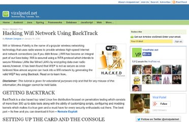 http://viralpatel.net/blogs/hacking-wifi-network-using-backtrack/