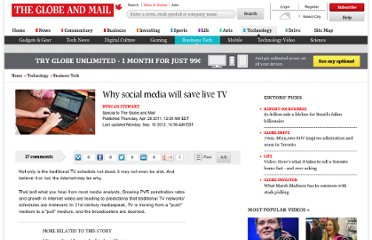 http://www.theglobeandmail.com/technology/business-technology/why-social-media-will-save-live-tv/article624346/