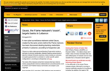 http://www.infosecurity-magazine.com/view/27521/gauss-the-flame-malwares-cousin-targets-banks-in-lebanon/