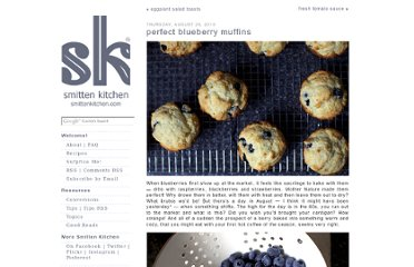 http://smittenkitchen.com/blog/2010/08/perfect-blueberry-muffins/