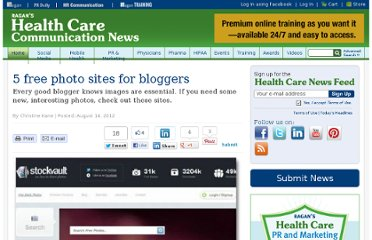 http://www.healthcarecommunication.com/Main/Articles/5_free_photo_sites_for_bloggers_9328.aspx