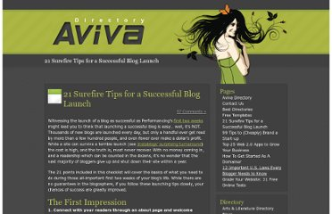 http://www.avivadirectory.com/successful-blog-launch/