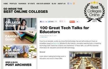 http://www.bestcollegesonline.com/blog/2010/05/31/100-great-tech-talks-for-educators/