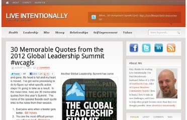 http://www.liveintentionally.org/2012/08/11/30-memorable-quotes-from-the-2012-global-leadership-summit-wcagls/