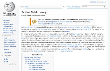 http://en.wikipedia.org/wiki/Scalar_field_theory