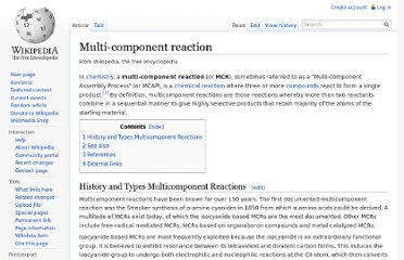 http://en.wikipedia.org/wiki/Multi-component_reaction