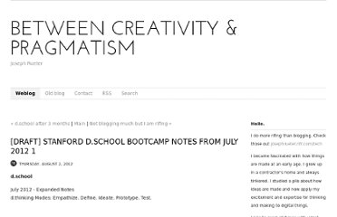 http://www.josephrueter.com/blog/2012/8/2/draft-stanford-dschool-bootcamp-notes-from-july-2012-1.html