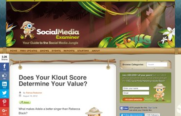 http://www.socialmediaexaminer.com/does-your-klout-score-determine-your-value/