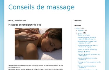 massage dos sensuel Gap