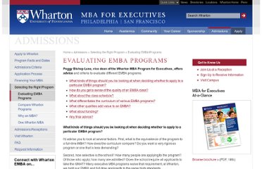 http://www.wharton.upenn.edu/mbaexecutive/admissions/evaluating-emba-programs.cfm