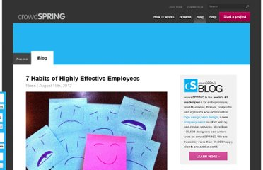 http://blog.crowdspring.com/2012/08/7-habits-of-highly-effective-employees/