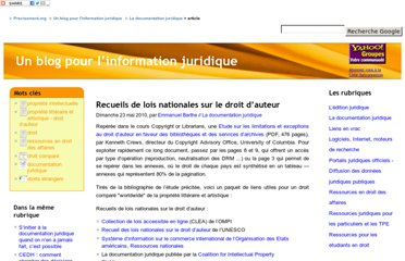 http://www.precisement.org/blog/Recueils-de-lois-nationales-sur-le.html
