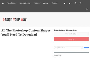 http://www.designresourcebox.com/all-the-photoshop-custom-shapes-youll-need-to-download/