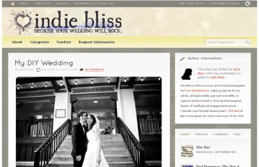 http://indiebliss.com/my-diy-wedding/