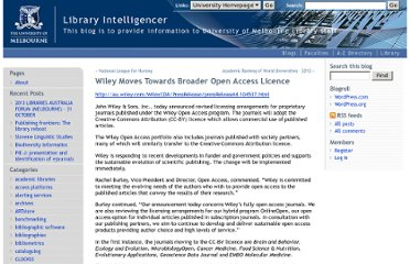 http://blogs.unimelb.edu.au/libraryintelligencer/2012/08/15/wiley-moves-towards-broader-open-access-licence/