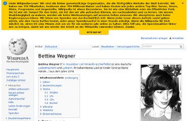 http://de.wikipedia.org/wiki/Bettina_Wegner