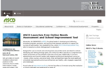 http://www.ascd.org/news-media/Press-Room/News-Releases/ASCD-Releases-Free-Online-School-Improvement-Tool.aspx